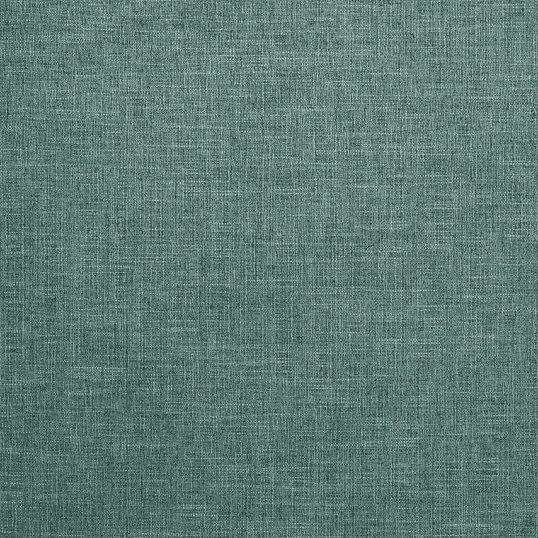 Teal linen mix fabric suitable for curtains and upholstery