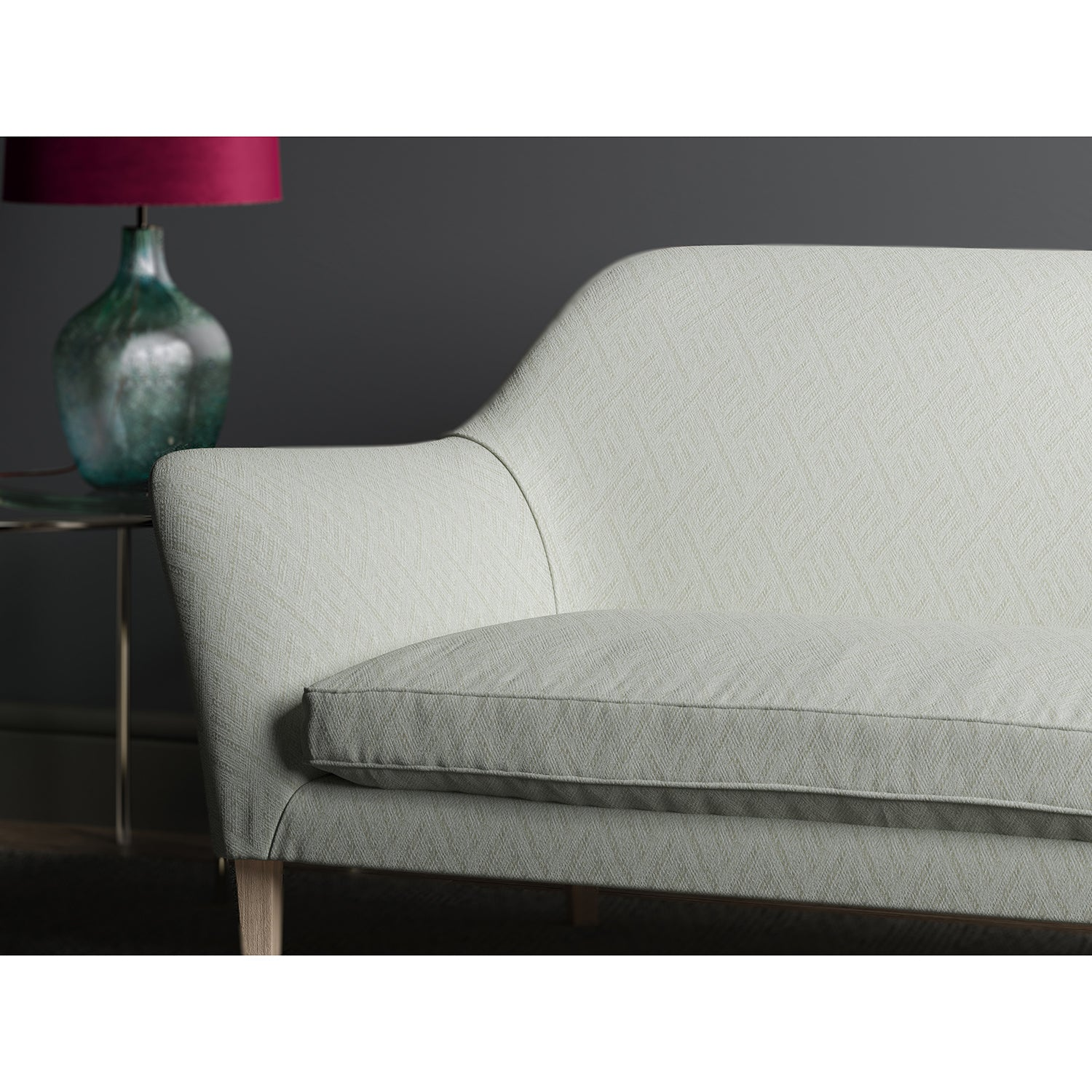 Sofa in design name Rumba, colourway Cream from Tango Weaves