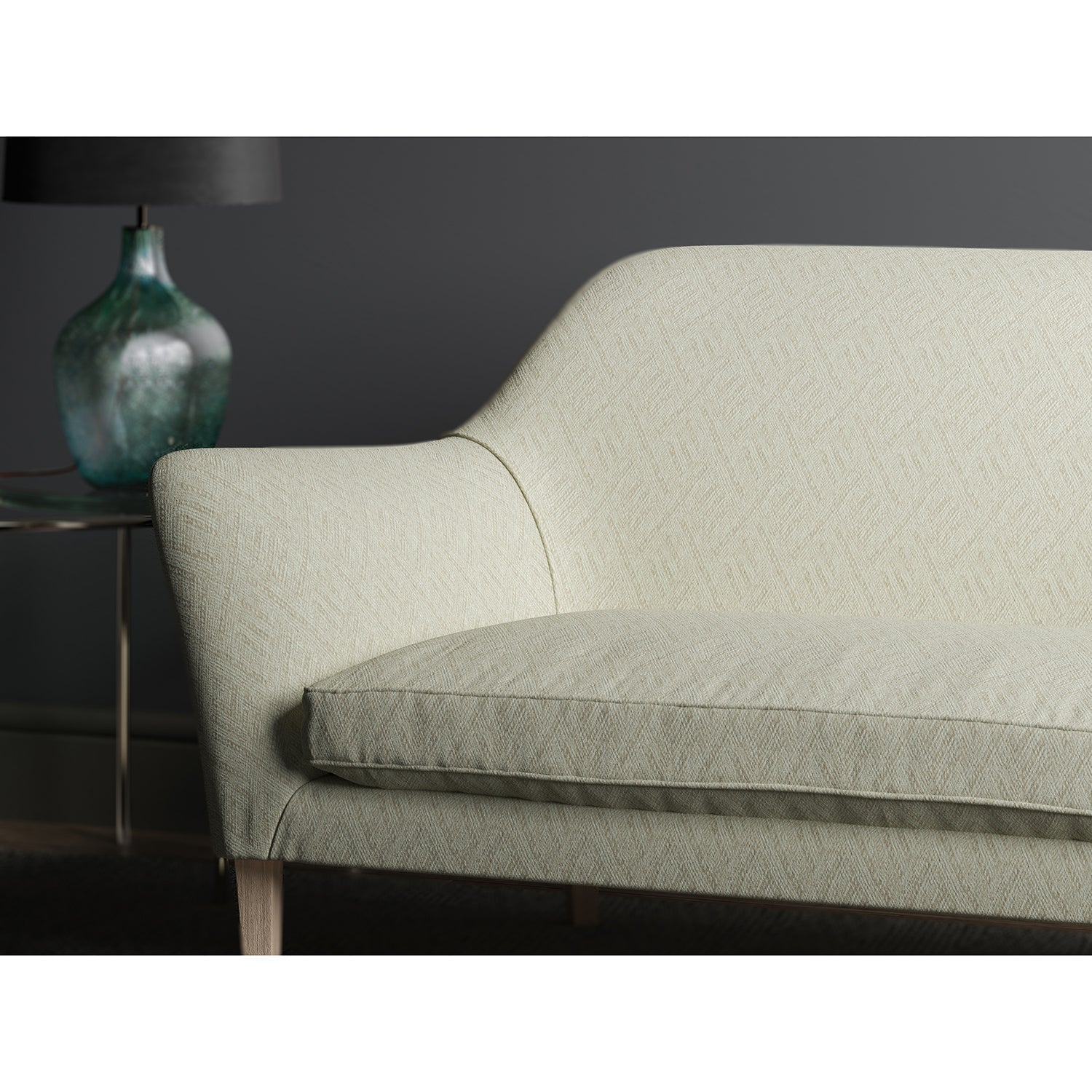 Sofa in design name Rumba, colourway Natural from the Tango Weaves collection