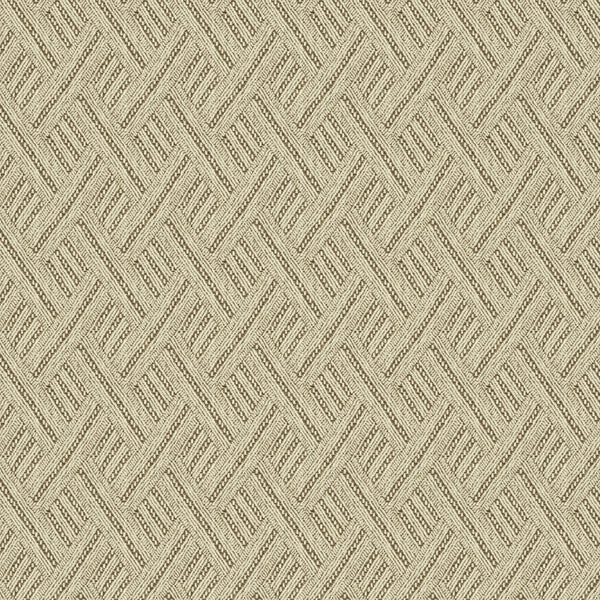 Neutral geometric weave fabric for curtains and upholstery with