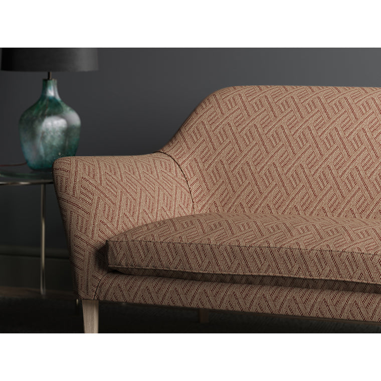 Sofa upholstered in Rumba, colourway Hot Sauce from Tango Weaves