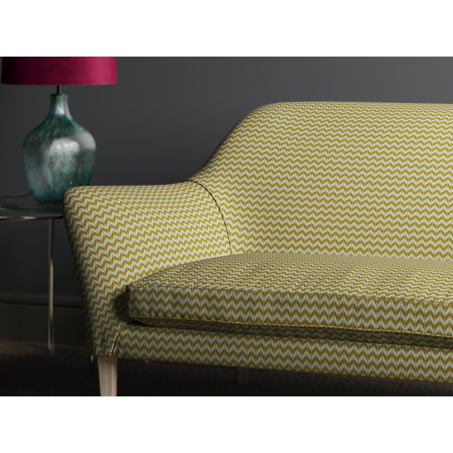 Sofa in design name Bolero, colourway Yellow from Tango Weaves