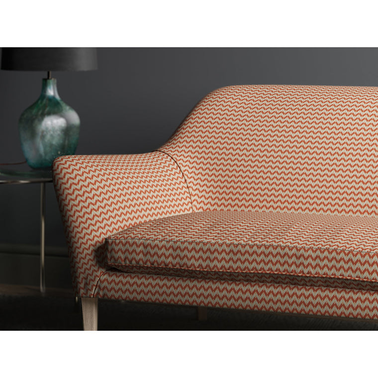 Sofa upholstered in design name Bolero, colourway Spice from Tango Weaves