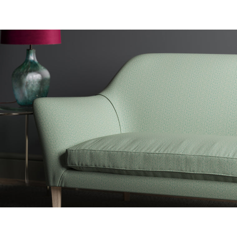 Sofa in design name Salta, colourway Lagoon from Tango Weaves.