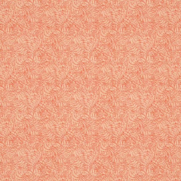 Orange fabric with small white print for curtains and upholstery