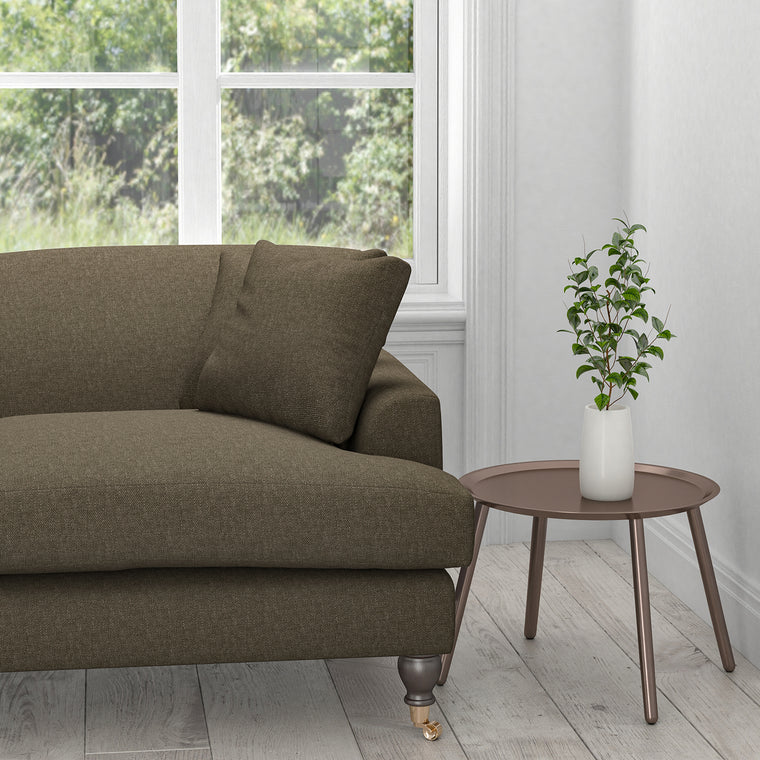 Sofa in a brown upholstery fabric for contract and domestic use