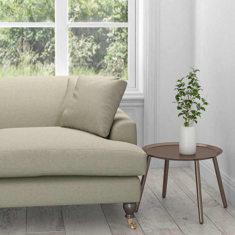 Sofa in a stone coloured washable furnishing fabric