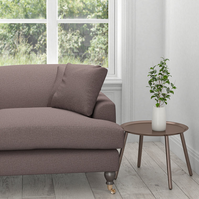 Sofa in a purple plain cotton upholstery fabric
