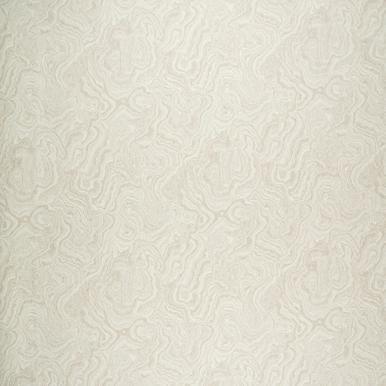 Fabric swatch of a cream wool fabric with marble design suitable for curtains and upholstery
