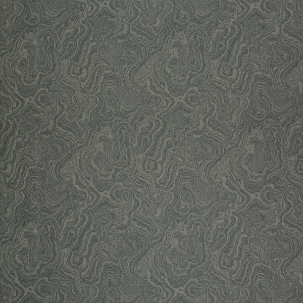Fabric swatch of a grey wool fabric with marble design suitable for curtains and upholstery
