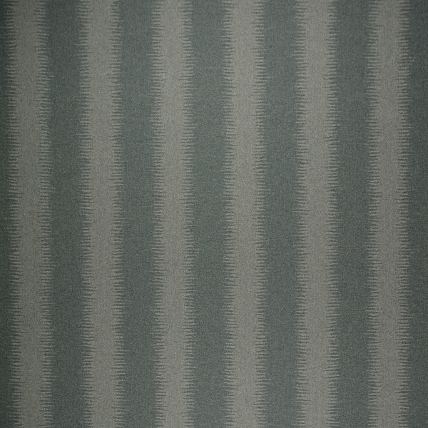 Fabric swatch of a grey wool fabric with a lighter stripe, suitable for curtains and upholstery