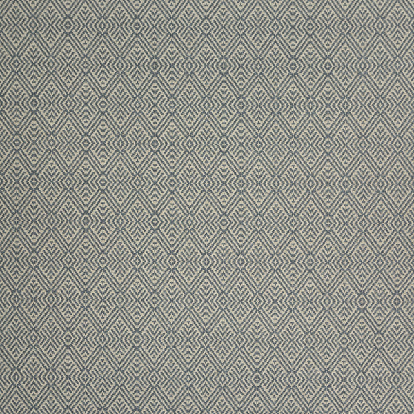 Fabric swatch of a grey geometric wool fabric for curtains and upholstery