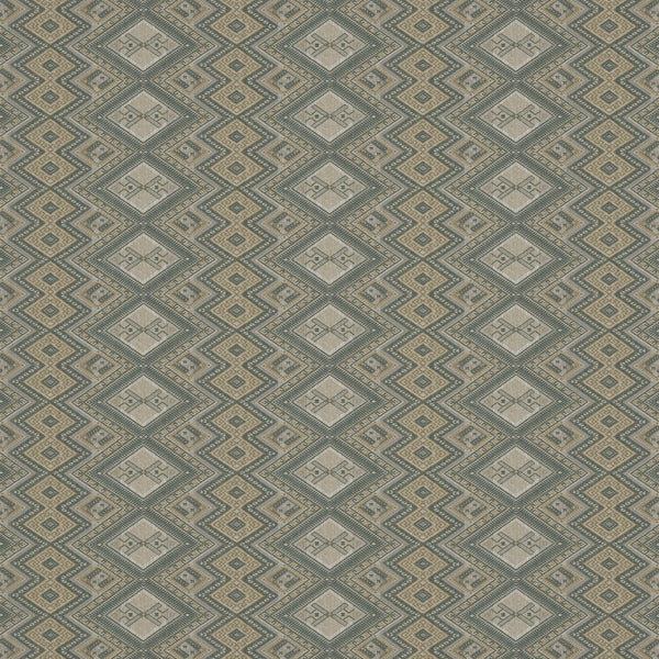 Fabric swatch of a grey coloured geometric weave fabric suitable for curtains and upholstery