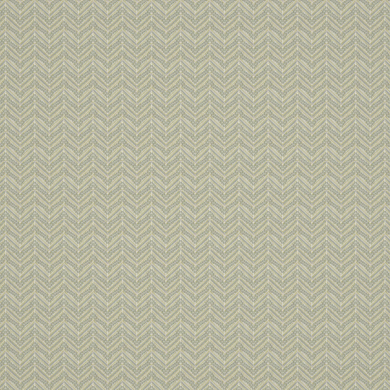 Fabric swatch of a light coloured zig zag geometric weave fabric suitable for curtains and upholstery