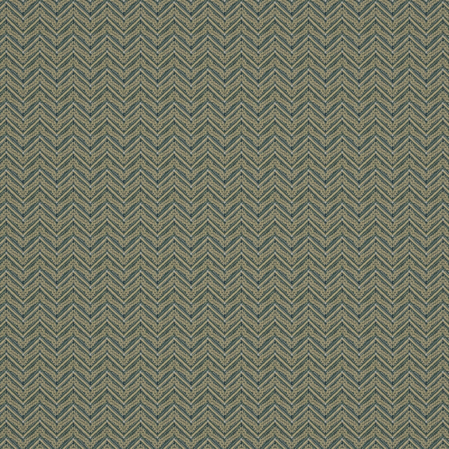 Fabric swatch of a dark grey coloured zig zag geometric weave fabric suitable for curtains and upholstery