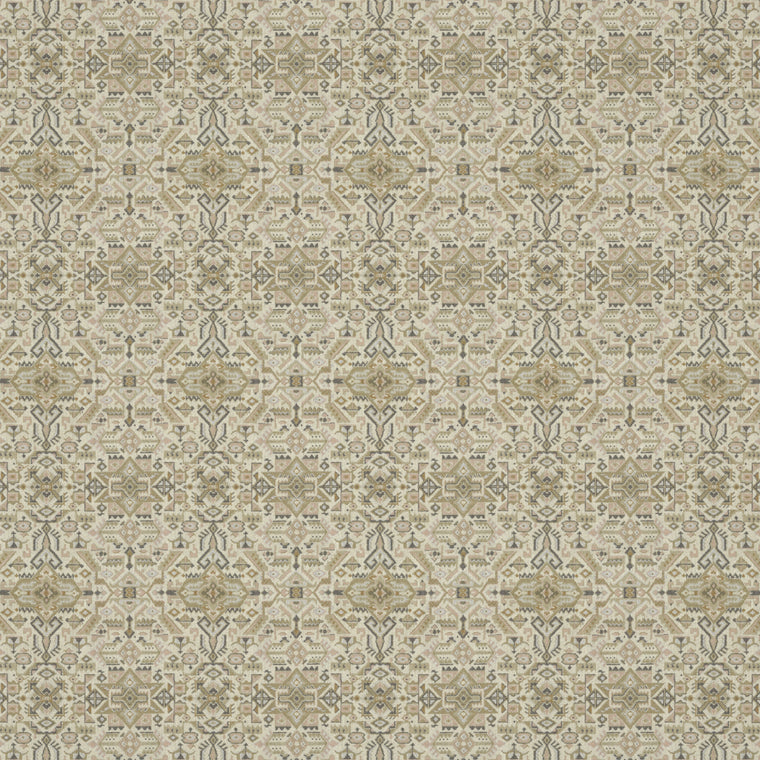 Fabric swatch of a light neutral coloured large scale geometric weave fabric suitable upholstery