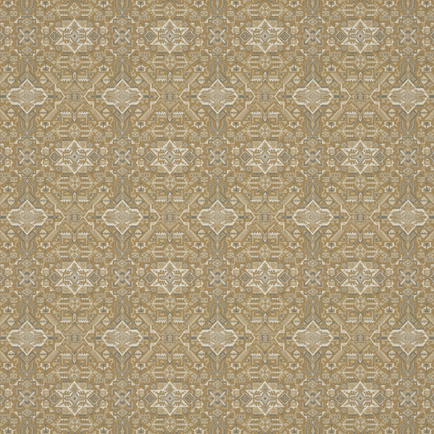 Fabric swatch of a dark neutral coloured large scale geometric weave fabric suitable upholstery