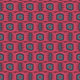 Fabric swatch of an abstract blue and berry stain resistant velvet fabric for curtains and upholstery
