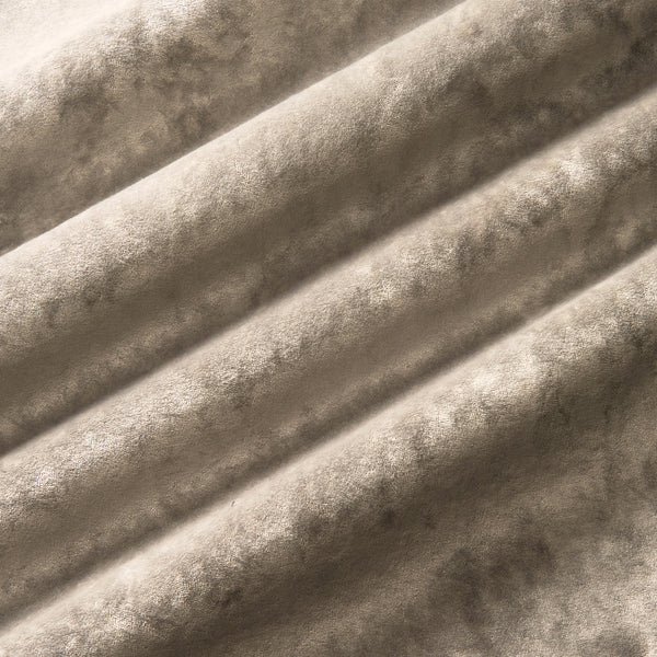 Luxury neutral crushed velvet fabric with stain resistant finish for curtains and upholstery