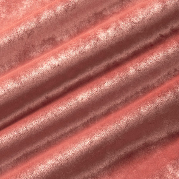 Luxury pink crushed velvet fabric with stain resistant finish for curtains and upholstery