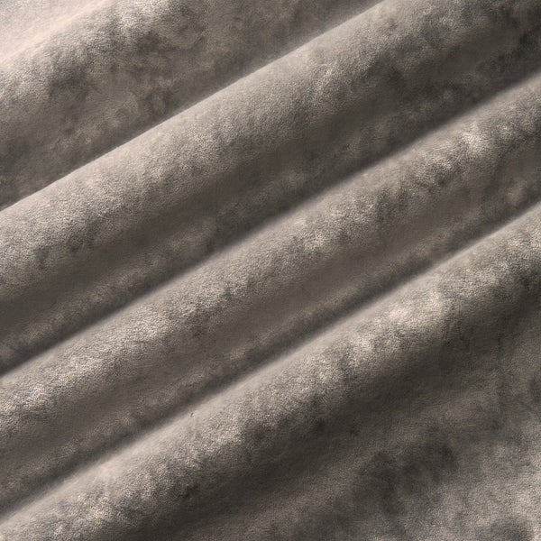 Luxury grey crushed velvet fabric with stain resistant finish for curtains and upholstery