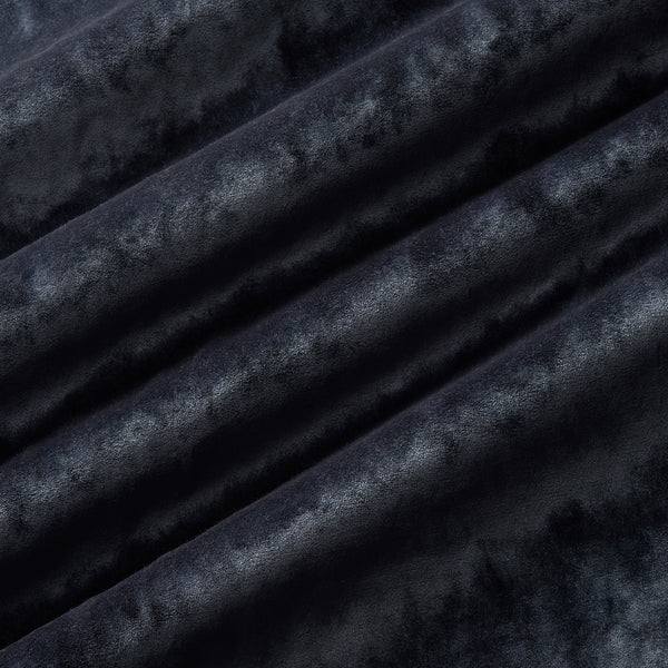 Luxury blue crushed velvet fabric with stain resistant finish for curtains and upholstery