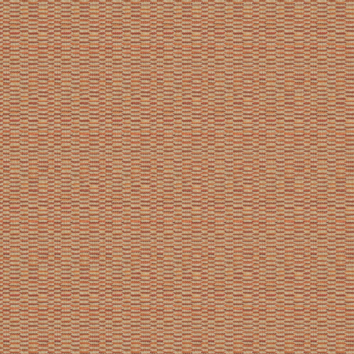 Fabric swatch of a stain resistant weave fabric with a broken stripe design in red colours