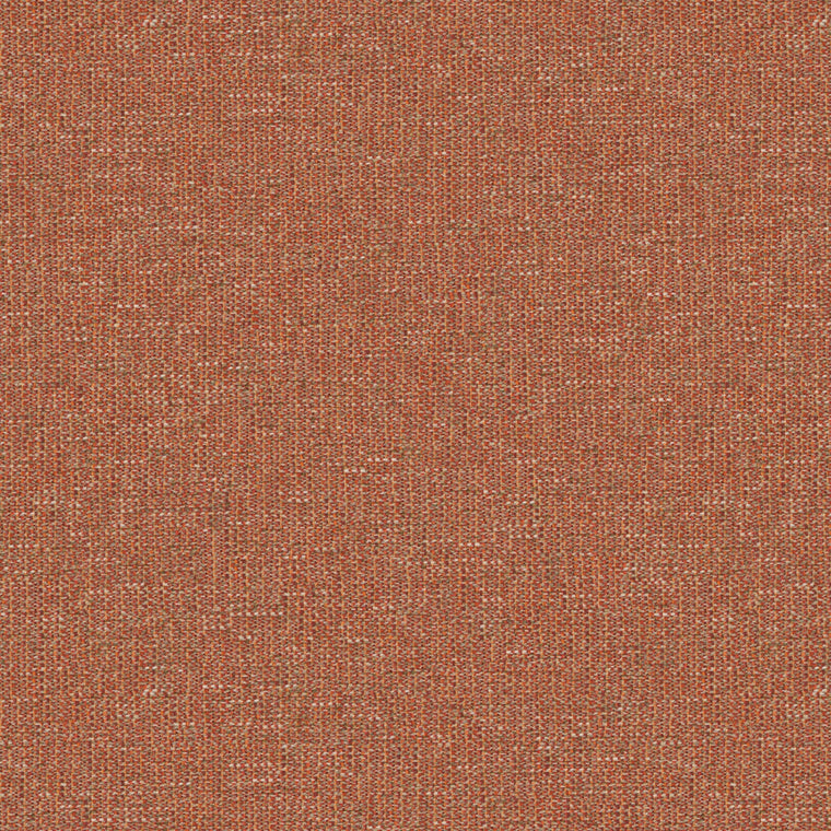 Fabric swatch of a stain resistant weave fabric with a tweed design in red colours