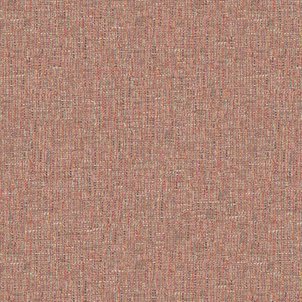 Fabric swatch of a stain resistant weave fabric with a tweed design in pink colours