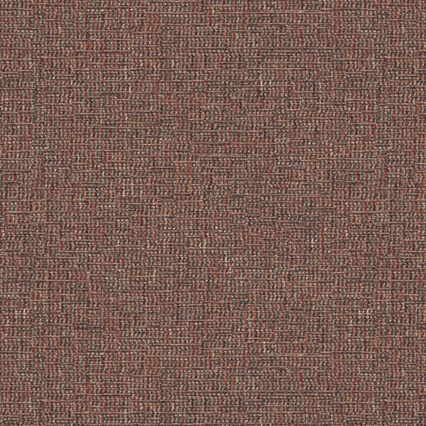 Fabric swatch of a stain resistant weave fabric with a tweed design in berry colours