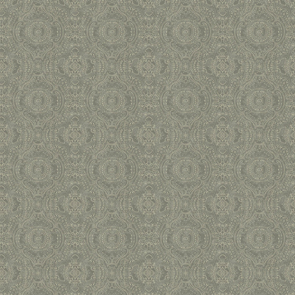 Wallpaper for walls in grey and white with an intricate jewel like design