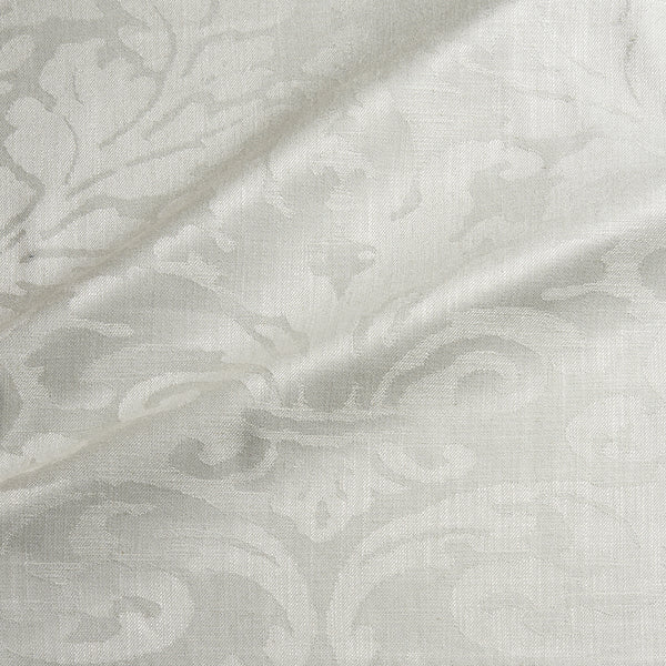 Fabric swatch of a contemporary damask fabric in a cream colour