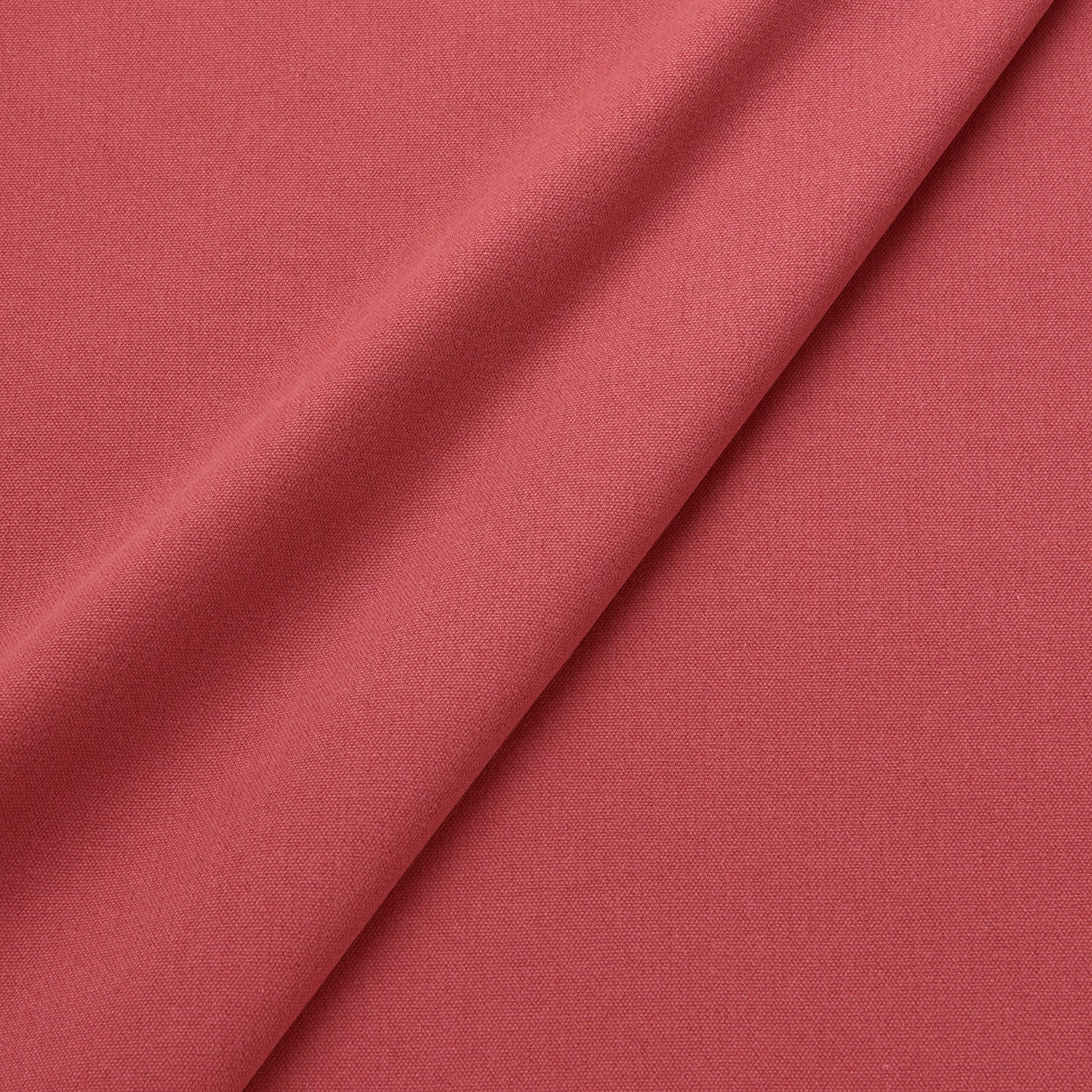 Fabric swatch of a eco-friendly plain red fabric for curtains and upholstery