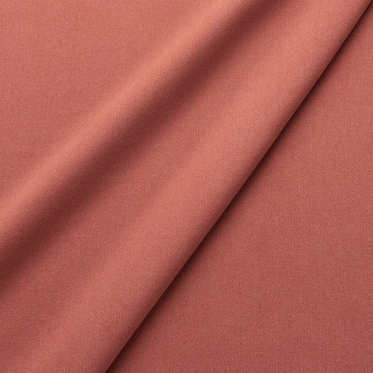 Fabric swatch of a eco-friendly plain terracotta fabric for curtains and upholstery