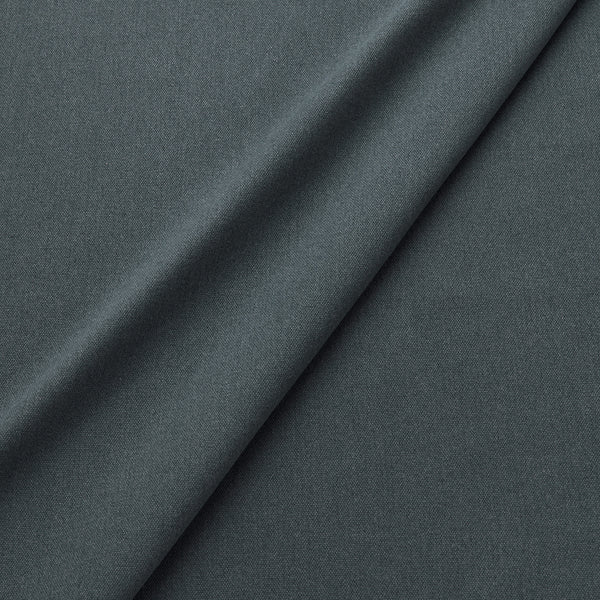 Fabric swatch of a eco-friendly plain dark blue fabric for curtains and upholstery