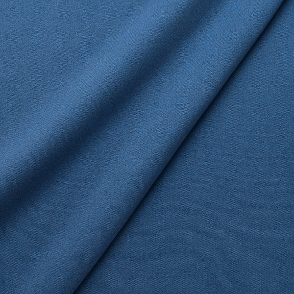 Fabric swatch of a eco-friendly plain cobalt blue fabric for curtains and upholstery
