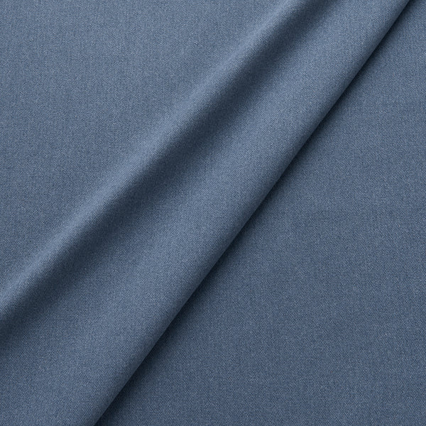 Fabric swatch of a eco-friendly plain blue fabric for curtains and upholstery