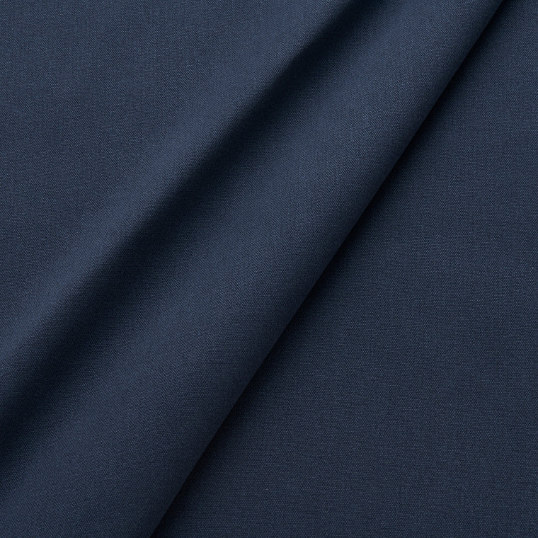 Fabric swatch of a eco-friendly plain midnight blue fabric for curtains and upholstery