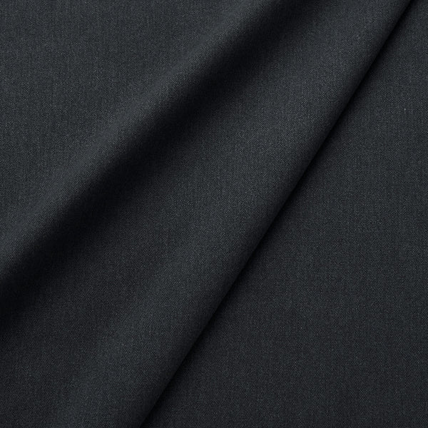 Fabric swatch of a eco-friendly plain black fabric for curtains and upholstery