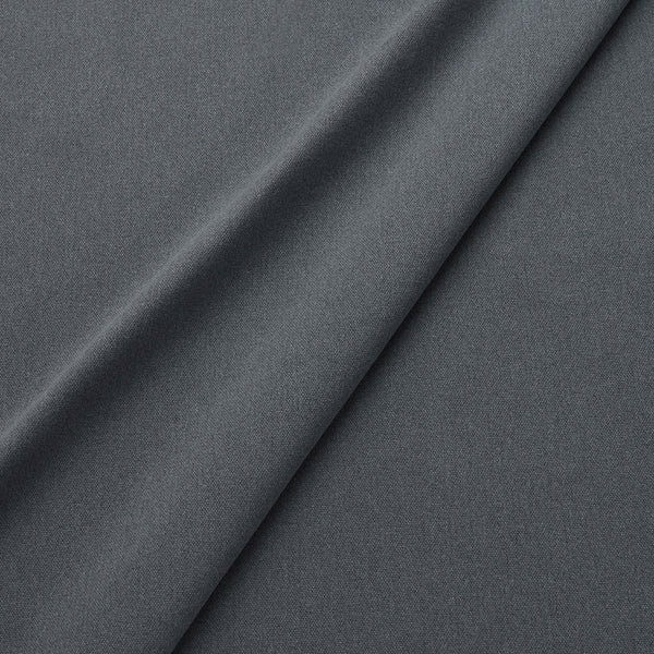 Fabric swatch of a eco-friendly plain dark grey fabric for curtains and upholstery