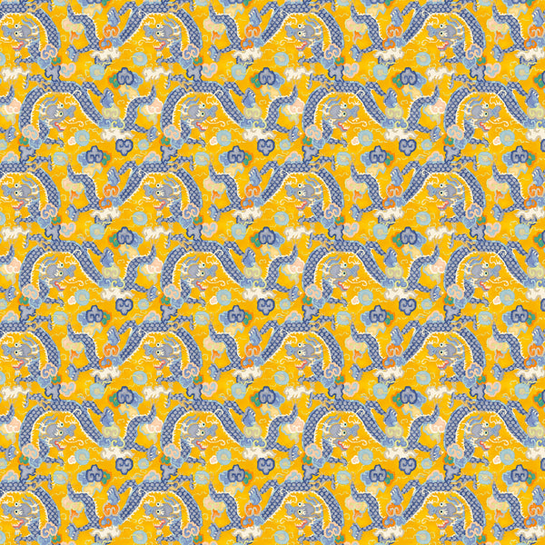 Statement designer wallpaper with oriental dragon design
