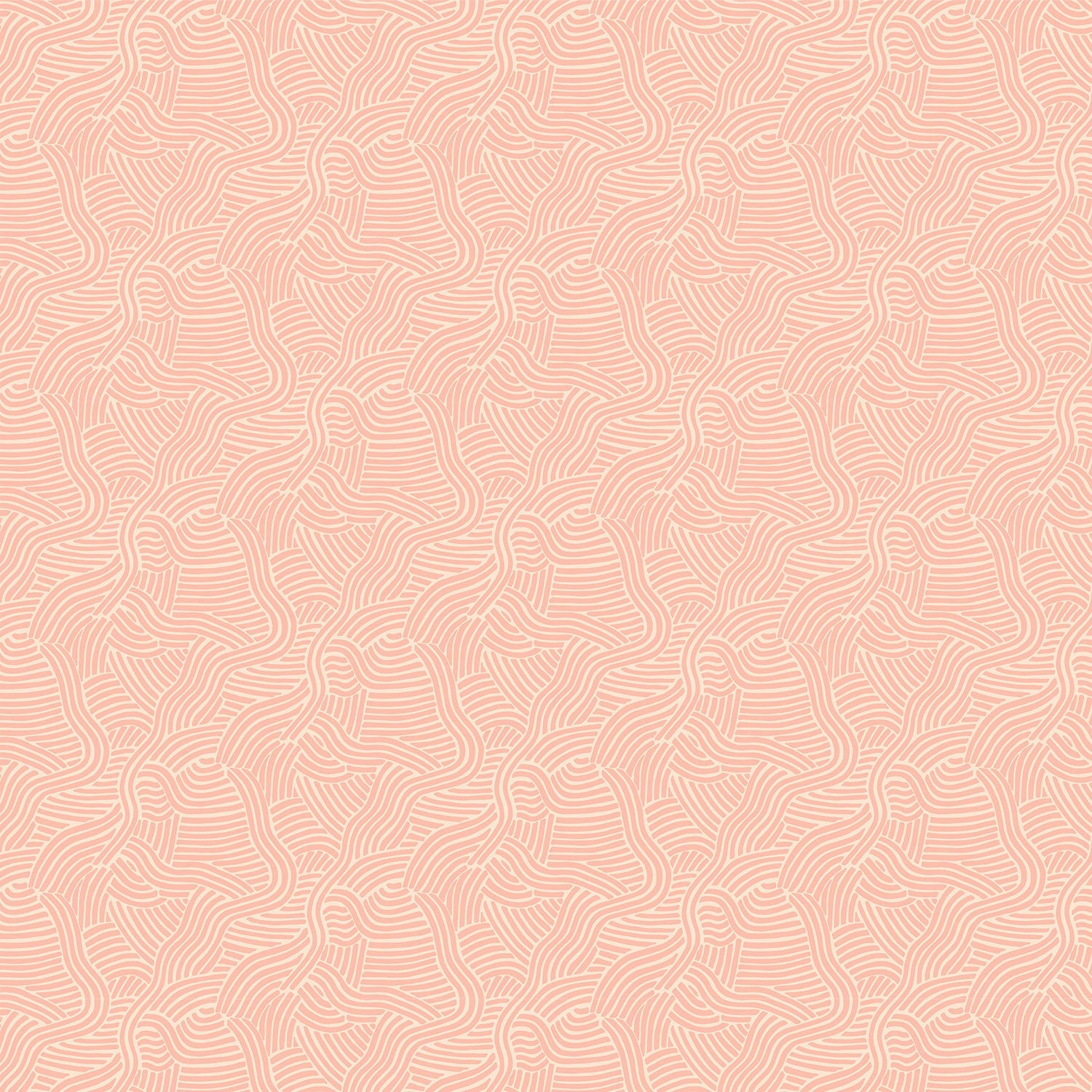 Luxury pink wallpaper with an abstract wave design