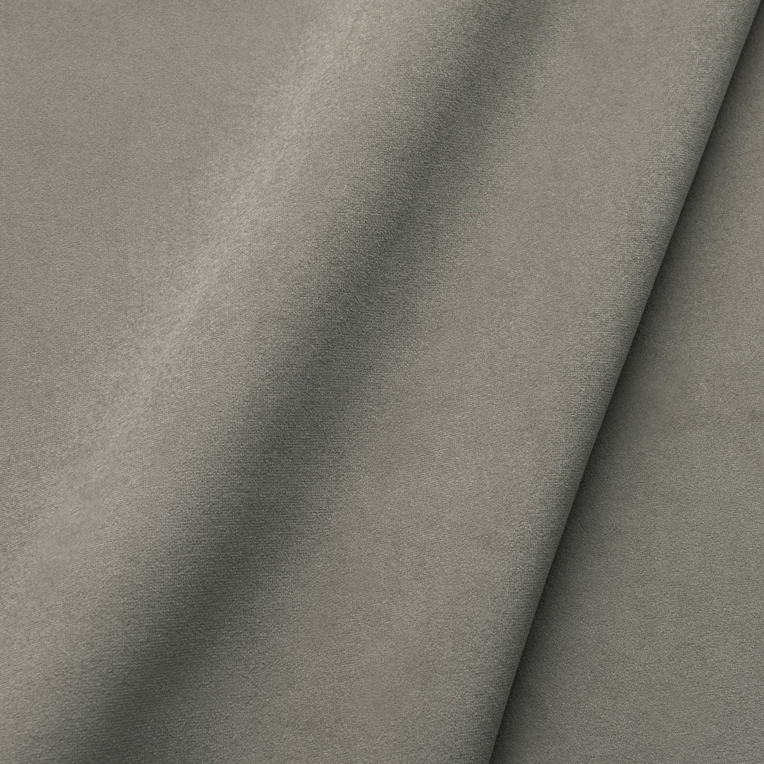 Fabric swatch of a plain stain resistant velvet upholstery fabric in a neutral colour