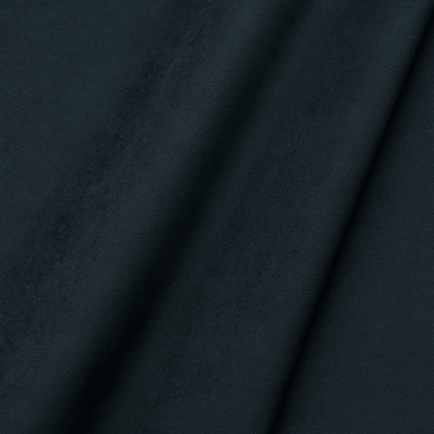 Fabric swatch of a plain stain resistant velvet upholstery fabric in a black colour
