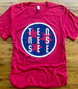 Tennessee Tri-Star Canvas tee
