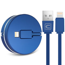 Load image into Gallery viewer, 2 in 1 Retractable Charging Cable