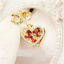 Load image into Gallery viewer, Diamond Heart-shaped Design Dust Plug