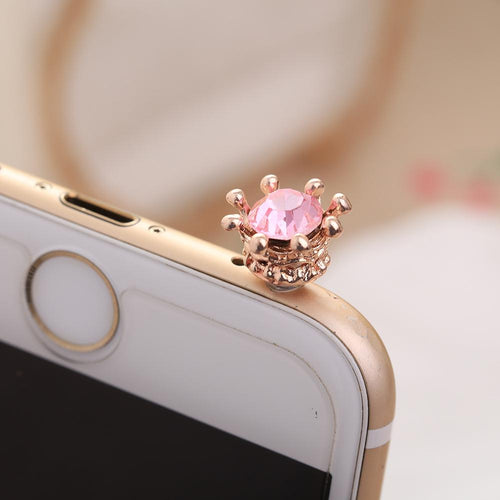 Gold Crown Phone Dust Plug