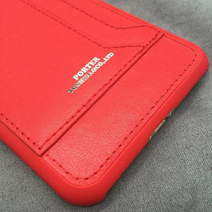 Real Leather Card Phone Case