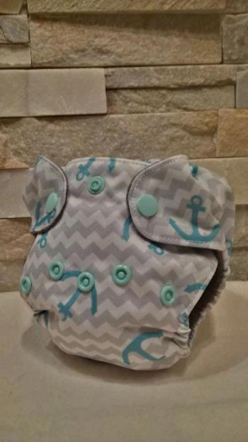 Newborn All in One Anchors Diaper - Bumbini Cloth Diaper Company